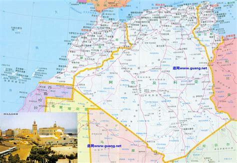 阿尔及利亚地图