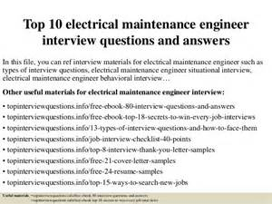 electrical maintenance engineer resume headline top 10 electrical maintenance engineer questions and answers
