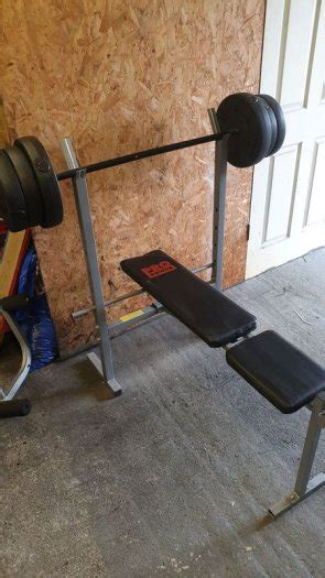 Bench Press And Weights For Sale bench press w35kg of weights for sale in carlow town