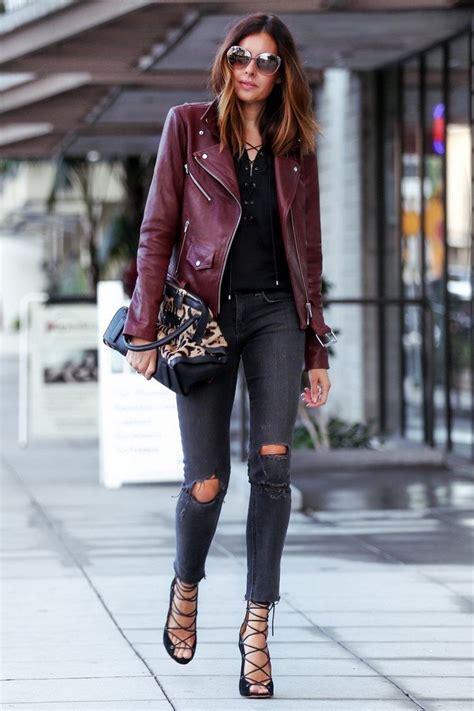 Best 25+ Burgundy leather jacket ideas on Pinterest   Leather jackets Cute leather jackets and ...