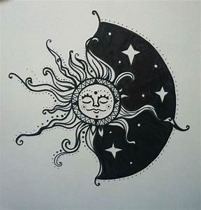 Sun & Moon Drawing | Tattoos! | Pinterest | Sun moon ...