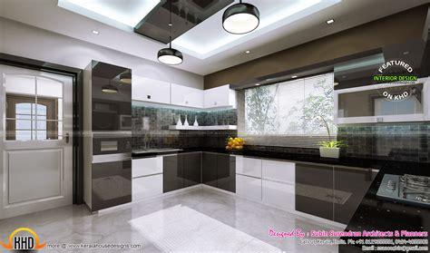 interior bedroom kitchen dining kerala home design