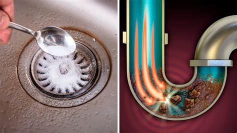 unclog  kitchen sink drain fast  cheap method