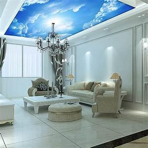 3d Decken Tapete : kundenspezifische wandbilder 3d blue sky decke tapete wandbild malerei 3d decke leder muster ~ Sanjose-hotels-ca.com Haus und Dekorationen