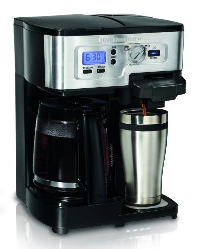 The hamilton beach flexbrew is indeed flexible with two ways to brew coffee. Coffee Consumers   Hamilton Beach 49983 2-Way FlexBrew ...