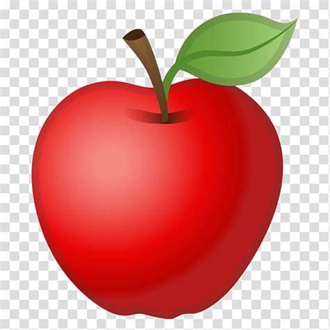 Red apple illustration, Apple Color Emoji Apple Color ...