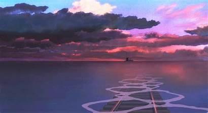 Ghibli Background Spirited Away Backgrounds Sunset Reblog