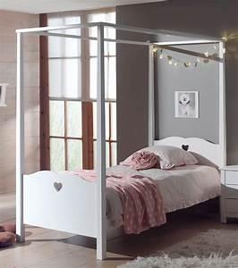Betten 90 X 200 : himmelbett amori liegefl che 90 x 200 cm wei kinder jugendzimmer betten ~ Bigdaddyawards.com Haus und Dekorationen