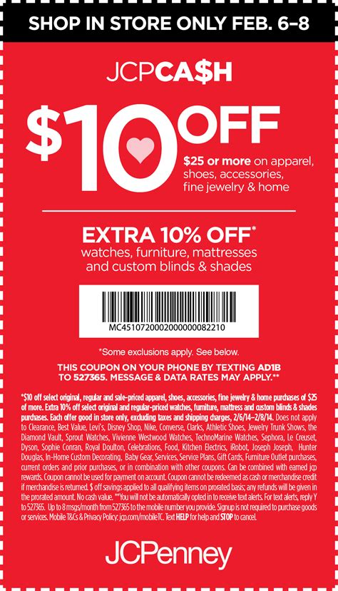 updated jcpenney printable coupons printable coupons