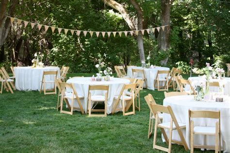casual backyard wedding  home cheap backyard wedding