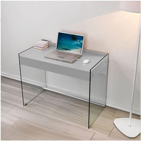 scrivanie in vetro temperato scrivania portacomputer mydesk grigio tortora con