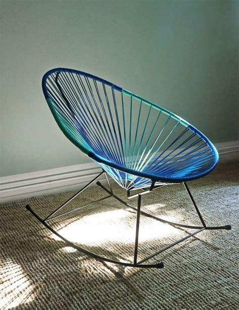acapulco chaise chaise à bascule acapulco bleu pétrole turquoise le