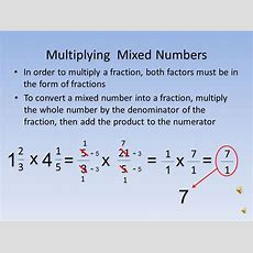 Mixed Number Into A Fraction Boxfirepress