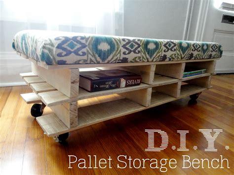 diy storage bench diy pallet bench calder
