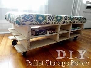 DIY Pallet Bench Jenna + Calder