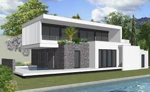 villa moderne avec plan mam menuiserie With dessin de maison en 3d 4 croquis de jardin en ligne pour petit jardin terrasse