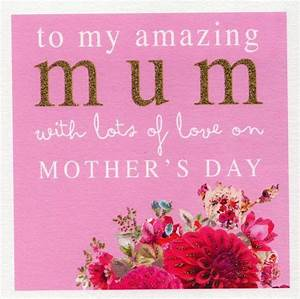 Stephanie Rose Amazing Mum Happy Mother's Day Greeting ...