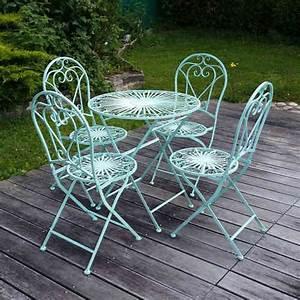 Chaise De Jardin En Fer : fer forg salon de jardin en fer forg chaise table ~ Teatrodelosmanantiales.com Idées de Décoration