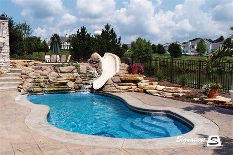 pictures of pool fiberglass pool picture gallery signature fiberglass pools chicago swimming pool builder illinois