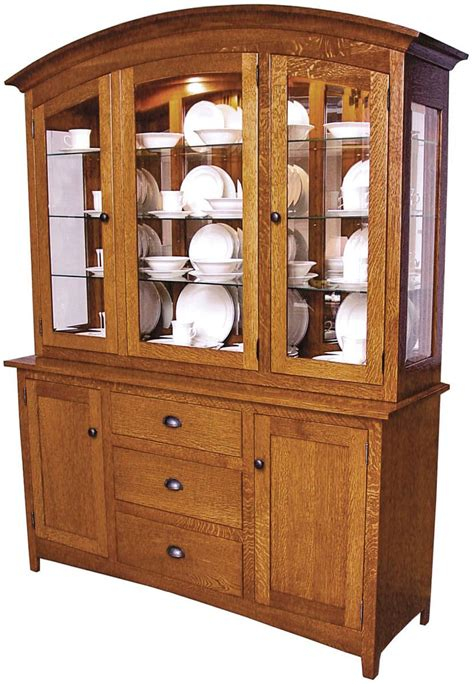 adobe mission style china hutch countryside amish furniture