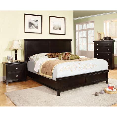 Espresso King Bedroom Set by Furniture Of America Fanquite 3 King Bedroom Set In