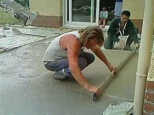 realisation d39une terrasse youtube With faire terrasse en beton