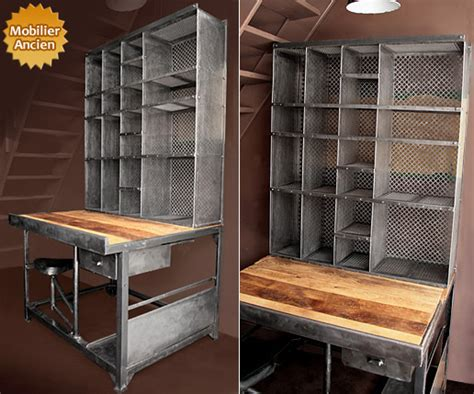 bureau postier design industriel mobilier industriel meuble industriel
