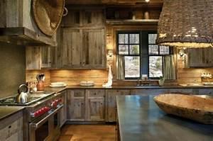 decoracion de cocinas rusticas 50 ideas originales With color combination and accent for rustic interior design