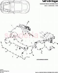 Aston Martin V12 Vantage Forward Wiring Assembly Parts