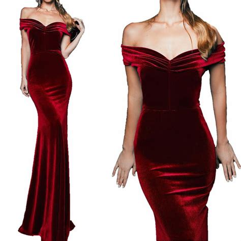 lp long mermaid velvet evening dresses