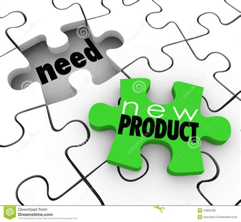 New Product Filling Need Business Service Sell Customers Puzzle Stock Illustration  Image 44863188