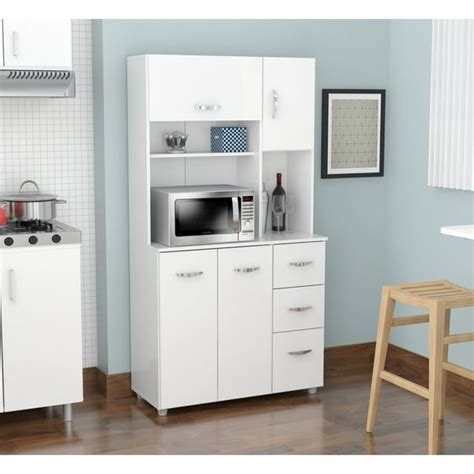 shop inval america llc laricina white kitchen storage cabinet  sale  shipping today