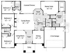 2 4 bedroom house plans 2089 square 4 bedrooms 3 batrooms 2 parking space on 1 levels house plan 8969