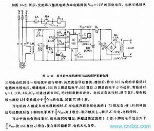 555 Simple Motor Phase Failure And Overcurrent Protection