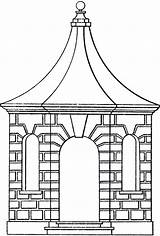 Pavilion Line Clipart Gazebo Garden Clip Arch Cliparts Clipground Graphics Library Roof Windows Fairy Thegraphicsfairy sketch template