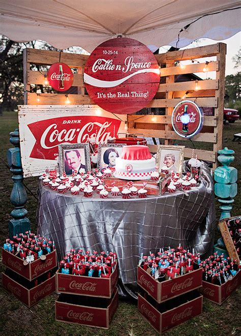coca cola decorations vintage coke wedding my wedding ideas coca cola