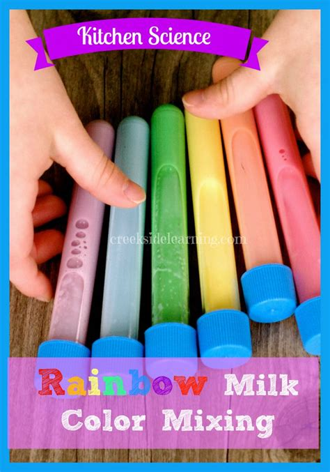 Kitchen Science Fair Experiments by Kitchen Science The Rainbow Milk Experiment Kid