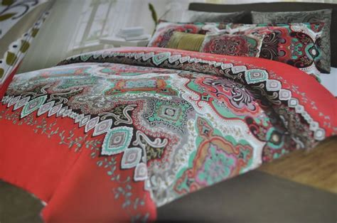 max studio home red teal black moroccan medallion king