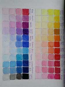Winsor Newton Cotman Watercolour Colour Chart  1
