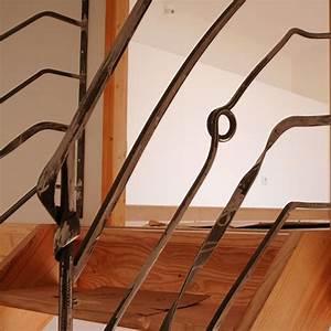 rambarde escalier pas japonnais ou hollandais fer et matieres artistique