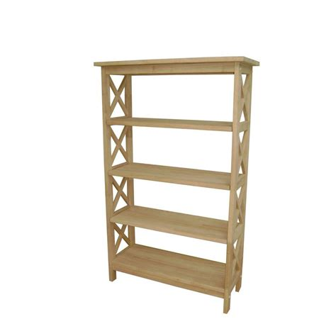 Unfinished Bookcase by International Concepts Unfinished Open Bookcase Sh 4830x
