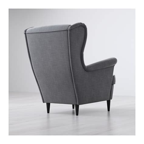 strandmon wing chair nordvalla dark gray ikea