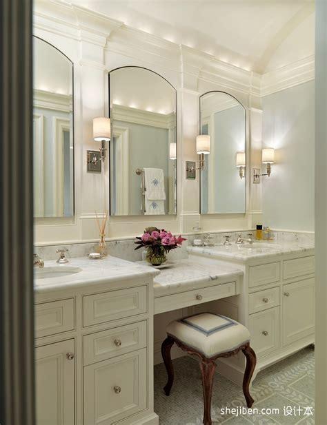 Master Bathroom Vanity With Makeup Area by 欧式卫生间装修效果图 小卫生间装修效果图大全2012图片 土巴兔装修效果图