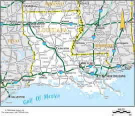Louisiana Road Map