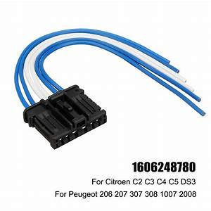 Rear Tail Light Loom Wiring Harness Connector For Peugeot 206 207 307 308 Citroen C3 C4