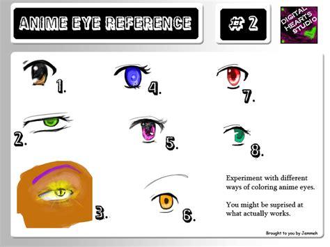 Anime Eye Reference 2 By Jemmeh On Deviantart