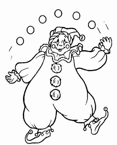 Coloring Pages Clowns Clown Circus Coloringpages1001