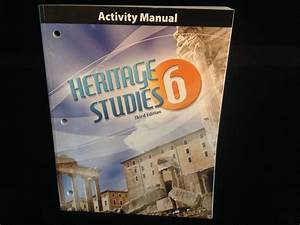 Bob Jones Bju Heritage Studies 6 Activities Manual  3rd Ed