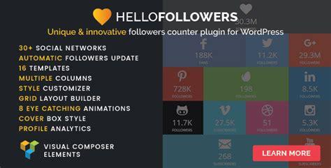 followers  social counter plugin