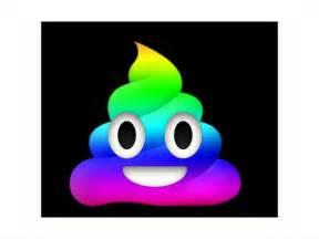 Emoji Poop Rainbow No Background